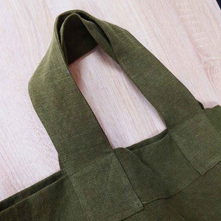 cabas en lin épais et large haut de gamme lin français