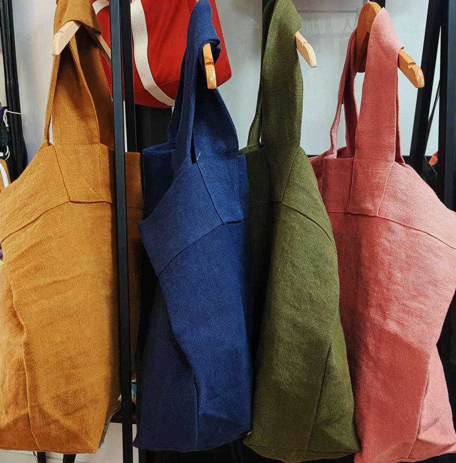 grand sac cabas épais en lin français
