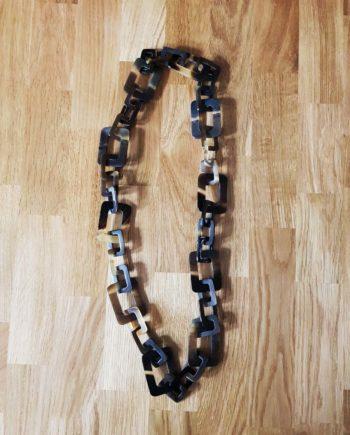 long sautoir en corne , collier en corne artisanat vietnamien