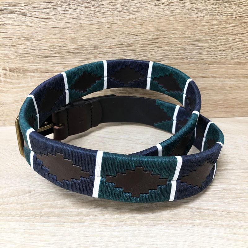 ceinture gaucho cuir et tissage artisanal