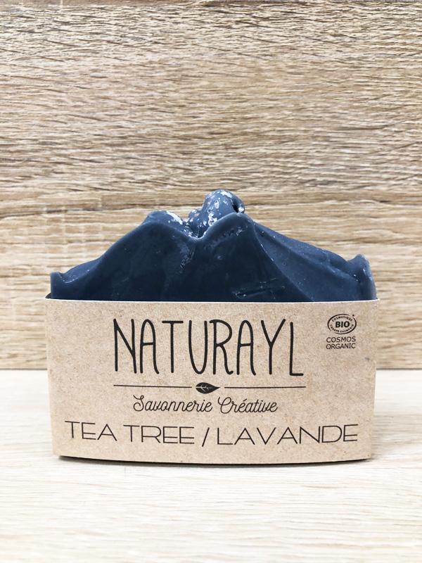 savon bio artisanal à froid tea tree lavande