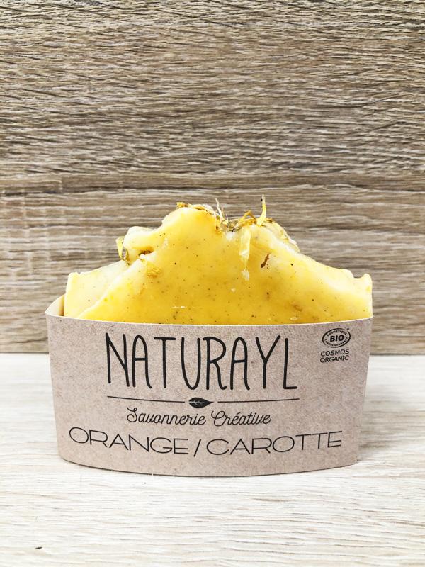 savon bio artisanal à froid orange carotte