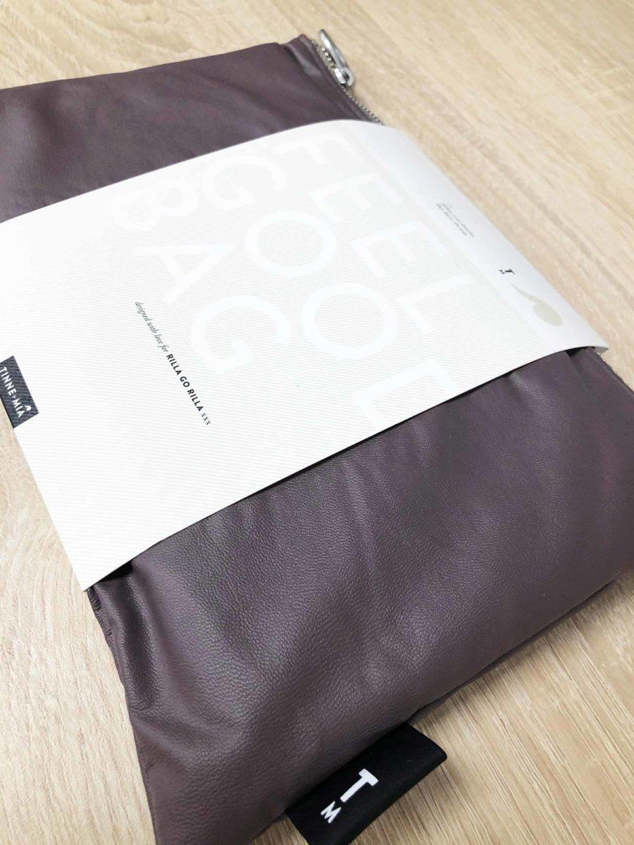 besace violet polyester recyclé pochette assortie