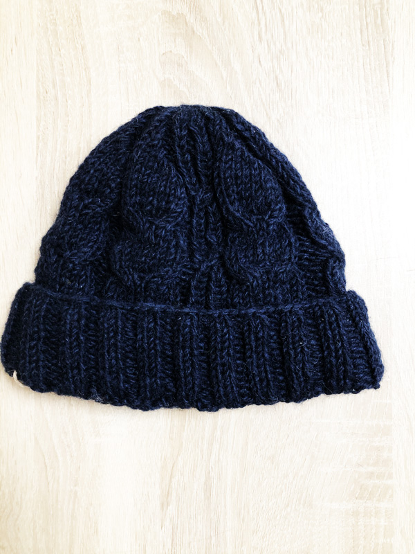 bonnet laine bleu navy komodo