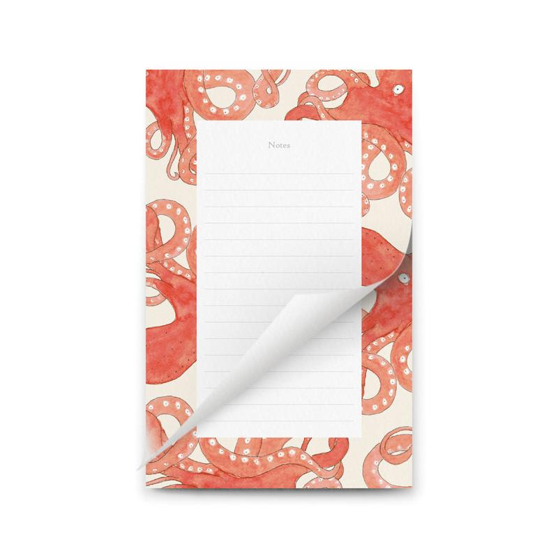 bloc notes poulpes petit gramme
