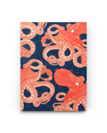 carnet A6 poulpe bleu petit gramme