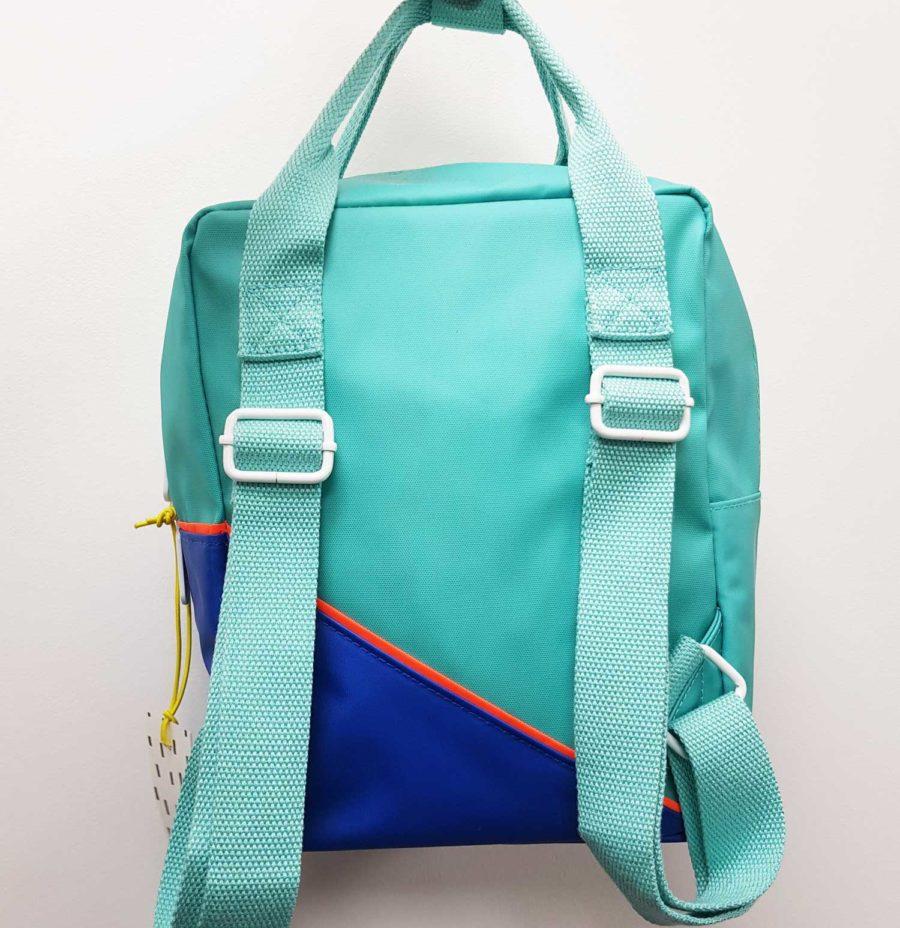 Petit sac à dos enfant turquoise et bleu roy en polyester recyclé