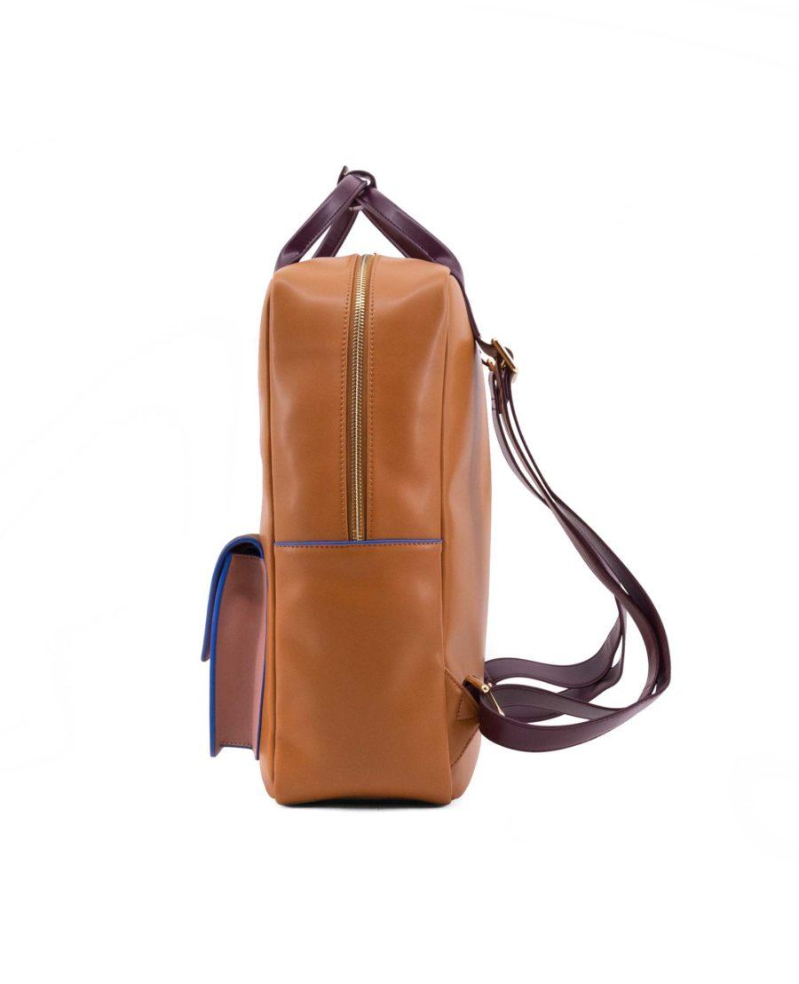 sac à dos élégant haut de gamme noisette olive et rose