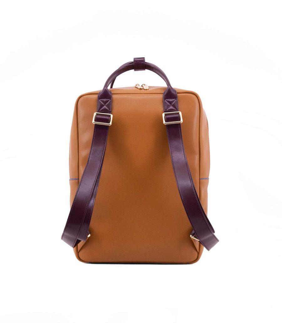 sac à dos élégant haut de gamme camel olive et rose