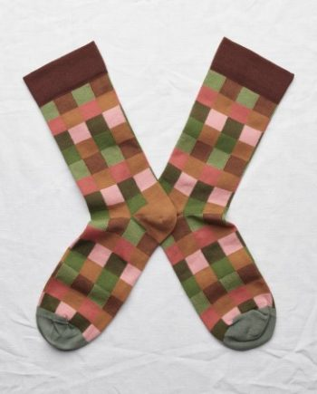 chaussette bonne maison carreaux multicolores
