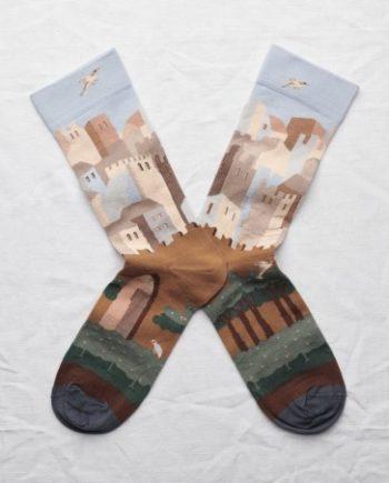 chaussettes bonne maison chateau ciel