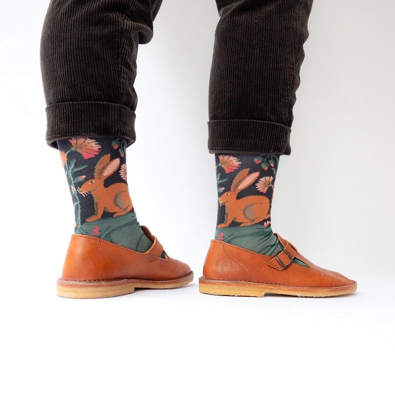 chaussettes bonne maison lièvre faux noir