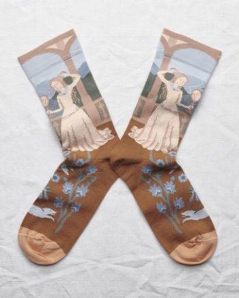 chaussettes bonne maison princesse ciel