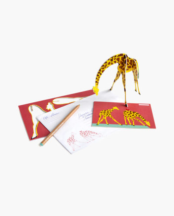 pop up card girafe studio roof