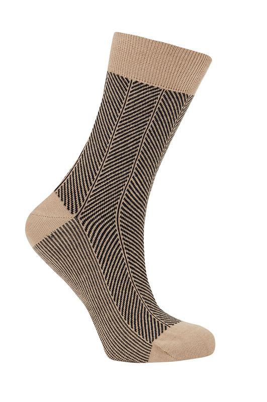 herringbone organic socks komodo beige