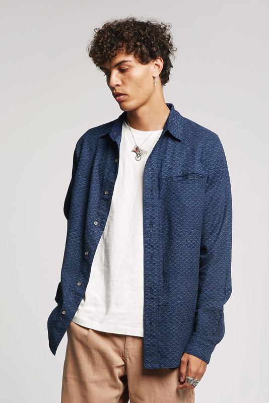 japan shirt indigo komodo
