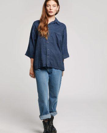 japan shirt komodo femme indigo