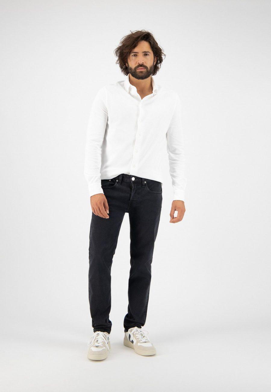 jean regular dunn stone black mud jeans