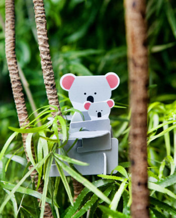 pop up card koala studio roof