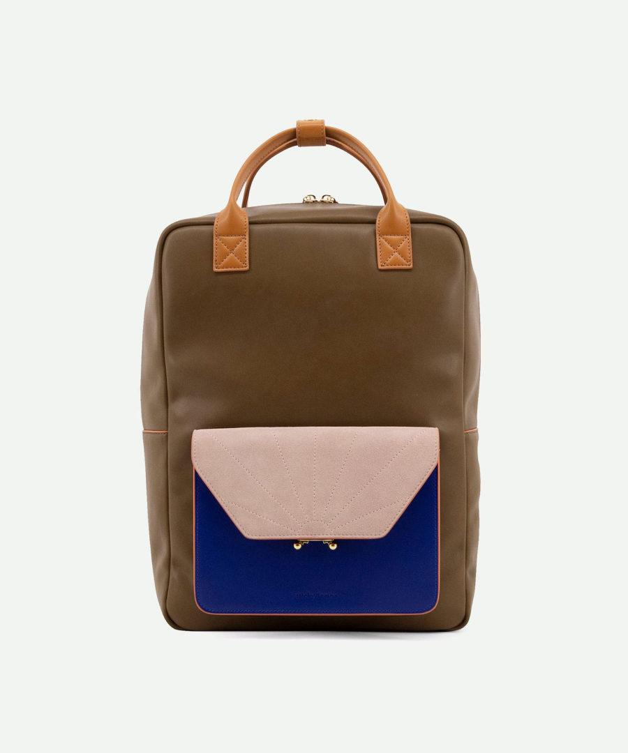sac à dos élégant haut de gamme vert olive vieux rose et bleu