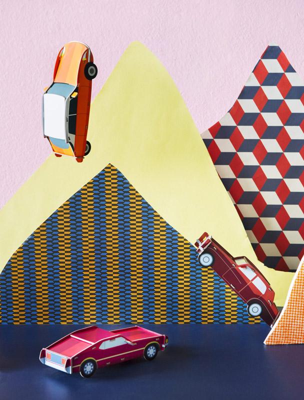 voiture mustang studio roof