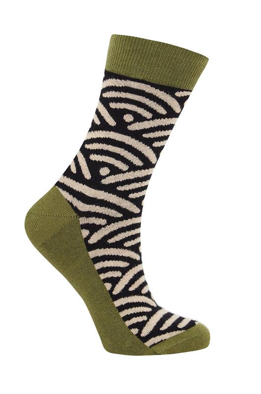 nami chaussettes komodo noir et beige