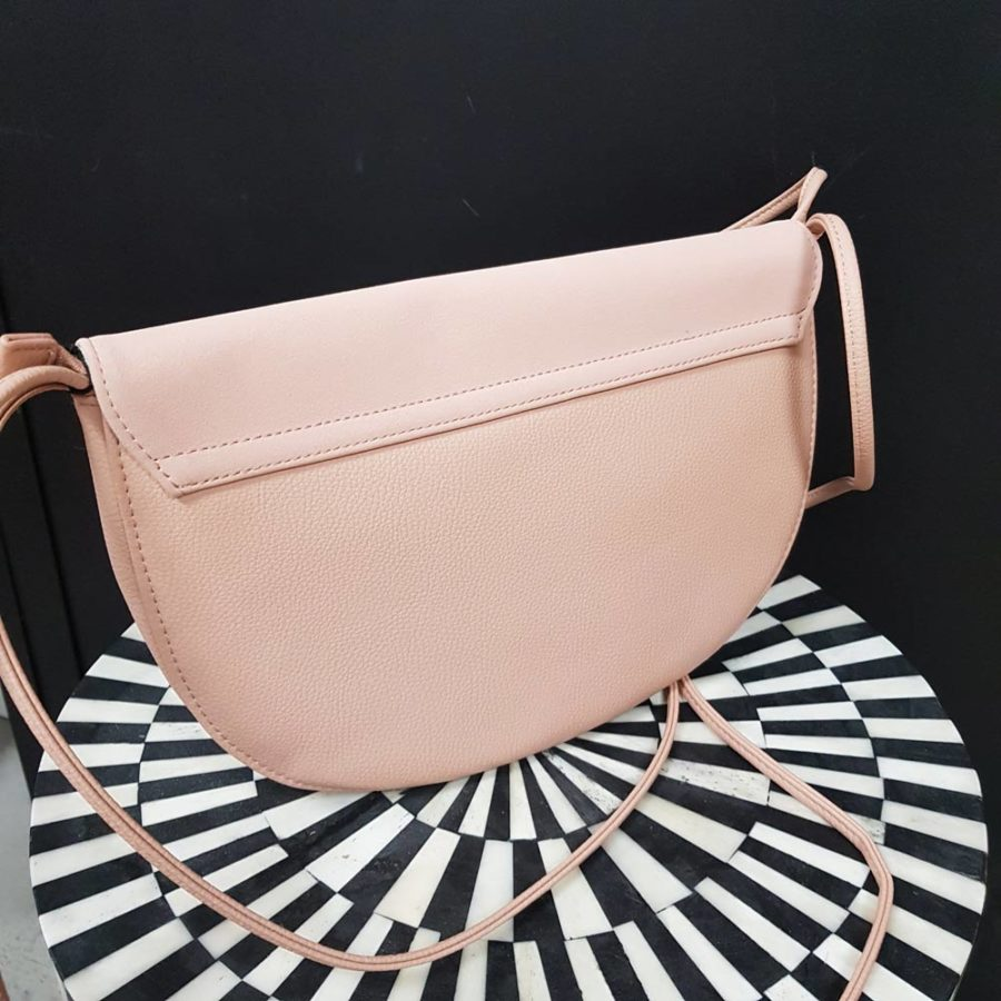 grand sac à rabas rose poudre cuir vegan