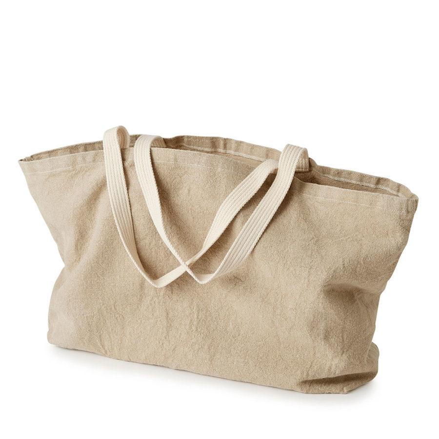 fourre-tout sac tote bag large en lin écru lin français