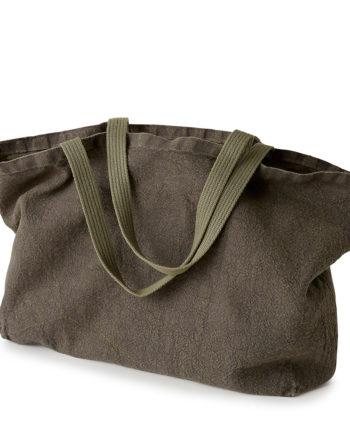 fourre-tout sac tote bag large en lin gris foncé lin français
