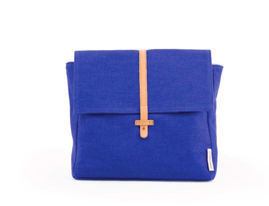 sac à dos enfant bleu roy en coton bio