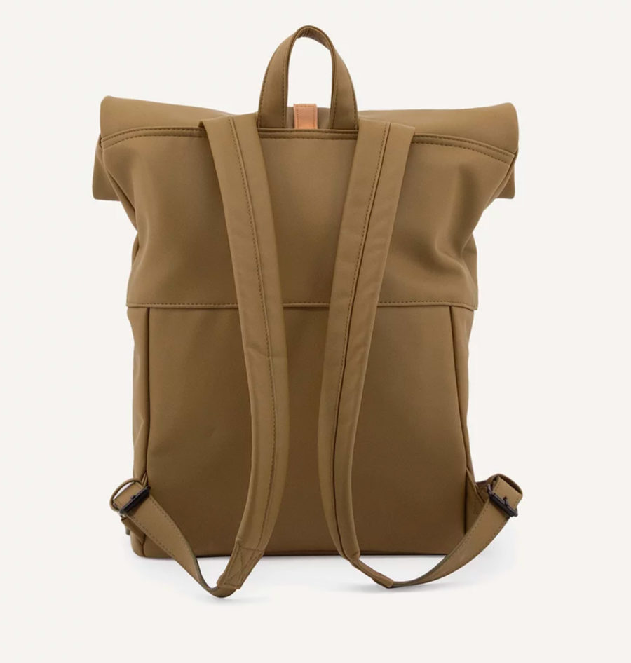 sac à dos cuir vegan vert olive grande contenance