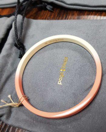 bracelet dégradé rose et blanc
