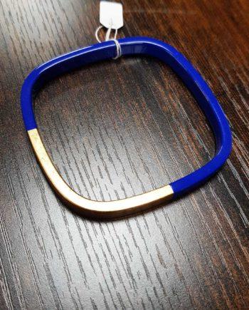 bracelet trinity carré bleu roi