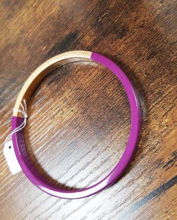 bracelet trinity rond prune