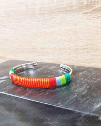 Bracelet guatapuri vert/orange