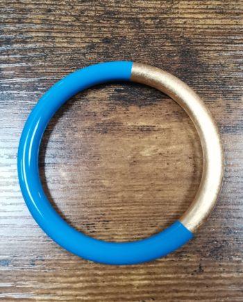 Bracelet laqué bleu azur