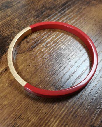 bracelet rouge laqué